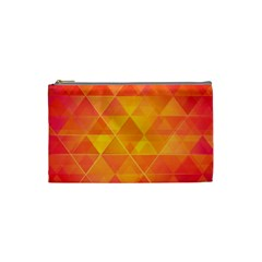 Background Colorful Abstract Cosmetic Bag (small)  by Nexatart