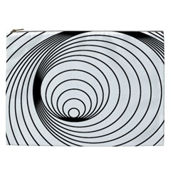 Spiral Eddy Route Symbol Bent Cosmetic Bag (xxl)