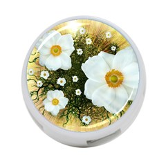 Summer Anemone Sylvestris 4 Port Usb Hub (two Sides)  by Nexatart