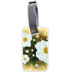 Summer Anemone Sylvestris Luggage Tags (two Sides) by Nexatart