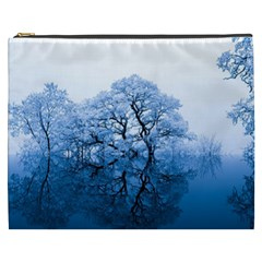 Nature Inspiration Trees Blue Cosmetic Bag (xxxl)  by Nexatart
