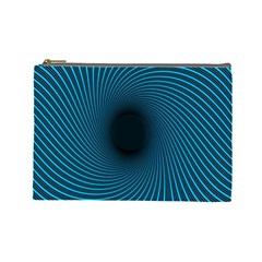 Background Spiral Abstract Pattern Cosmetic Bag (large)  by Nexatart