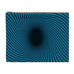 Background Spiral Abstract Pattern Cosmetic Bag (xl) by Nexatart
