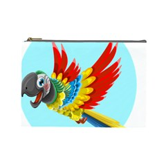 Parrot Animal Bird Wild Zoo Fauna Cosmetic Bag (large)