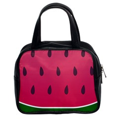 Watermelon Fruit Summer Red Fresh Classic Handbags (2 Sides) by Nexatart