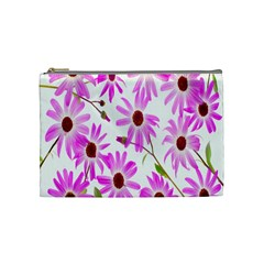 Pink Purple Daisies Design Flowers Cosmetic Bag (medium)
