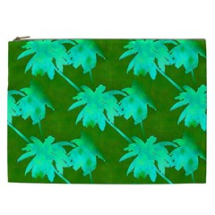 Palm Trees Island Jungle Cosmetic Bag (xxl)
