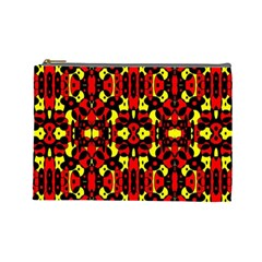 Red Black Yellow 5 Cosmetic Bag (large) by ArtworkByPatrick1