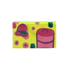 Candy Pink Hat Cosmetic Bag (xs) by snowwhitegirl