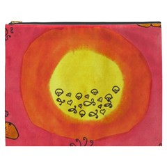 Red Sun Cosmetic Bag (xxxl) by snowwhitegirl