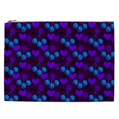 Night Cherries Cosmetic Bag (xxl) by snowwhitegirl