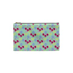 Birthday Cherries Cosmetic Bag (small) by snowwhitegirl
