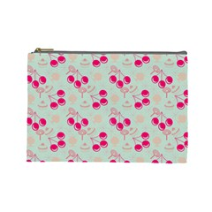 Bubblegum Cherry Cosmetic Bag (large) by snowwhitegirl