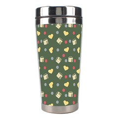 Green Milk Hearts Stainless Steel Travel Tumblers by snowwhitegirl