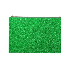 Green Glitter Cosmetic Bag (large) by snowwhitegirl