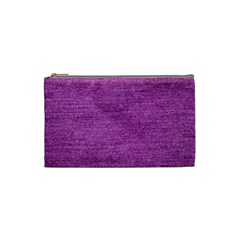 Purple Denim Cosmetic Bag (small) by snowwhitegirl