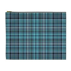 Teal Plaid Cosmetic Bag (xl) by snowwhitegirl