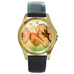 Elves 2769599 960 720 Round Gold Metal Watch