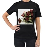 Roses 1802790 960 720 Women s T-Shirt (Black) (Two Sided)