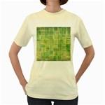 Abstract 1846980 960 720 Women s Yellow T-Shirt