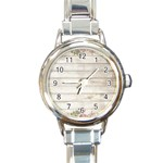 On Wood 2188537 1920 Round Italian Charm Watch