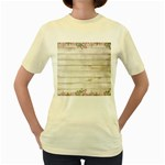 On Wood 2188537 1920 Women s Yellow T-Shirt