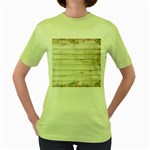 On Wood 2188537 1920 Women s Green T-Shirt