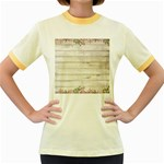 On Wood 2188537 1920 Women s Fitted Ringer T-Shirt