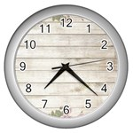 On Wood 2188537 1920 Wall Clock (Silver)