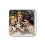 Vintage 1501558 1280 Rubber Coaster (Square)