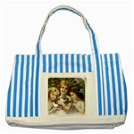 Vintage 1501558 1280 Striped Blue Tote Bag