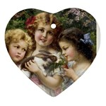 Vintage 1501558 1280 Heart Ornament (Two Sides)
