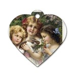 Vintage 1501558 1280 Dog Tag Heart (Two Sides)