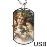 Vintage 1501558 1280 Dog Tag USB Flash (One Side)