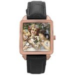 Vintage 1501558 1280 Rose Gold Leather Watch