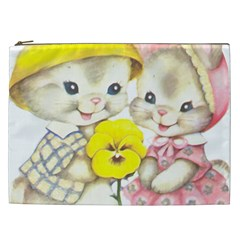 Rabbits 1731749 1920 Cosmetic Bag (xxl) by vintage2030