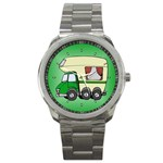 RV Travel Trailer Motorhome Camping Sport Metal Watch