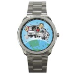 RV Camping Travel Trailer Motorhome Sport Metal Watch
