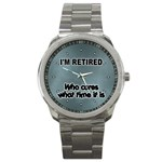 RETIREMENT Retired Over The Hill Gag Sport Metal Watch