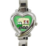 RV Travel Trailer Motorhome Camping Heart Charm Watch