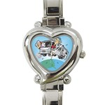 RV Camping Travel Trailer Motorhome Heart Charm Watch