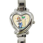 PET SHOP Vet Veterinarian Store Women Heart Charm Watch
