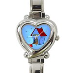 DOG HOUSE Pet Puppy Girls Women Kids Heart Charm Watch