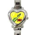 DNA Genetics Molecule Biology Science Heart Charm Watch