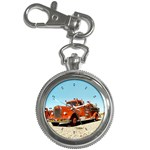 FIRE TRUCK Vintage Fireman Men Boys Key Chain Watch
