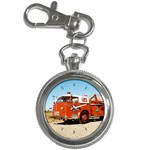 FIRE TRUCK Boys Vintage Fireman Men Key Chain Watch