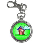 OUTHOUSE Porta Potty Bathroom Boy Men Key Chain Watch