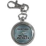 RETIREMENT Retired Over The Hill Gag Key Chain Watch