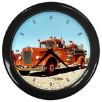 FIRE TRUCK Vintage Fireman Men Boys Wall Clock
