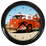 FIRE TRUCK Boys Vintage Fireman Men Wall Clock